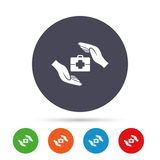 Знак медицинского страхования Символ медицинской страховки Стоковая Фотография