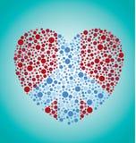 Знак мира в сердце иллюстрация вектора
