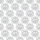 Знак мира Doodle. Безшовная предпосылка. Стоковое Изображение