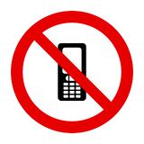 Знак мобильного телефона и запрета бесплатная иллюстрация