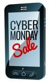 Знак мобильного телефона продажи понедельника кибер Стоковое фото RF