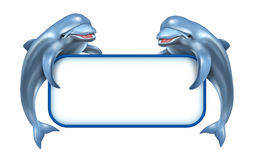 Знак морского пехотинца дельфина иллюстрация вектора