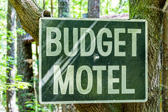Знак мотеля бюджета Стоковое фото RF
