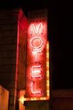Знак мотеля ночи неоновый Стоковые Фотографии RF