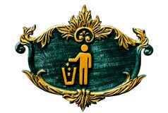 Знак мусорной корзины Стоковое Фото