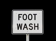 Знак мытья ноги Стоковые Фотографии RF