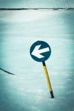 Знак наклона лыжи Стоковое Изображение