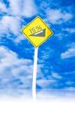 Знак наклона Стоковая Фотография