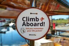 Знак напоминания спасательного жилета Стоковые Изображения