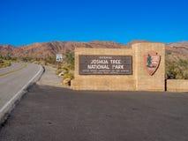 Знак национального парка дерева Иешуа Стоковое Изображение RF