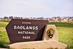 Знак национального парка неплодородных почв Стоковая Фотография RF