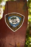 Знак национального парка Стоковая Фотография RF