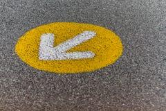 Знак на асфальте стоковые фото