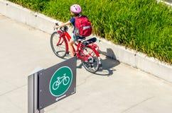Знак на майне велосипеда Стоковая Фотография