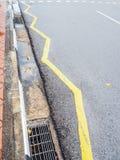 Знак на поверхности улицы Стоковое Изображение