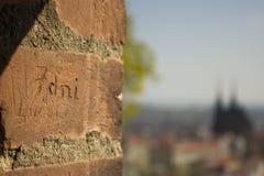 Знак на стене Стоковые Изображения RF