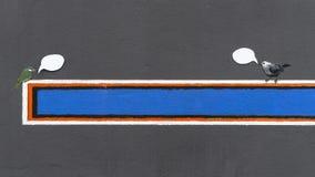 Знак на стене Стоковая Фотография RF