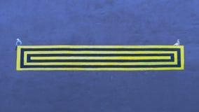 Знак на стене Стоковое фото RF