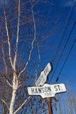 Знак на улицах города Dawson стоковые изображения