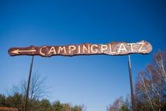 знак немца лагеря Стоковые Фотографии RF