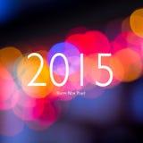 Знак Нового Года на запачканной предпосылке bokeh Новый Год карточки счастливое Стоковые Фотографии RF
