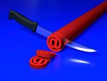 знак ножа электронной почты Стоковое фото RF