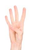 знак номера 4 языков Стоковое Изображение RF