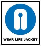 Знак носки спасательного жилета иллюстрация штока