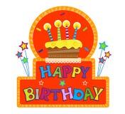 знак дня рождения счастливый Стоковые Фотографии RF