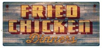 Знак обедающих жареной курицы иллюстрация вектора