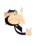 знак обезьяны бизнесмена объявления Стоковые Изображения