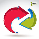 знак обновления сети сетки 3d стильный Стоковые Фото