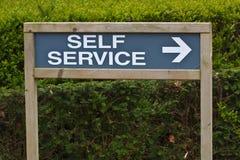 знак обслуживания собственной личности Стоковое фото RF