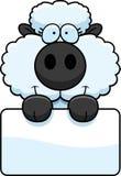 Знак овечки шаржа Стоковое Изображение RF