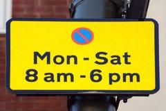 Знак ограничения автостоянки стоковое фото