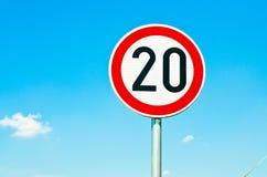 Знак ограничения в скорости Стоковое Изображение