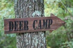 знак оленей лагеря Стоковые Изображения