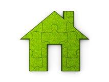 Головоломка зеленого дома Стоковое Изображение