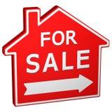 Знак дома для продажи перевод 3d Стоковое Фото