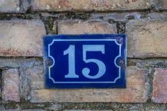 Знак дома, 15 Стоковое Изображение