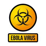 Знак опасности желтого цвета Ebola вектор Стоковое Изображение RF