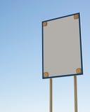 Знак опасности с 4 солнечными светами в углах Стоковые Фото