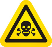 Знак опасности черепа вектора Стоковое Фото