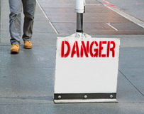 Знак опасности Стоковые Изображения