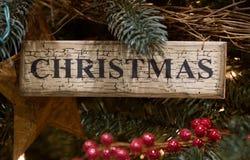 знак орнамента рождества Стоковые Изображения
