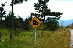 Знак дорожного движения крутой склон стоковое фото