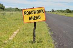 Знак дорожной работы Стоковая Фотография RF