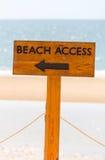 Знак доступа пляжа Стоковые Изображения RF