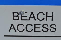 Знак доступа пляжа Стоковая Фотография