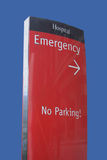 знак отделения скорой помощи Стоковые Изображения RF